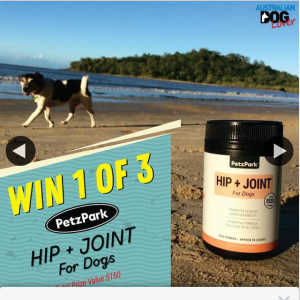 Australian Dog Lover – Win One of Three Petzpark Hip Joint for Dogs (prize valued at $150)