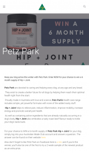 Australian Made – Win a 6 Month Supply of Hip Joint