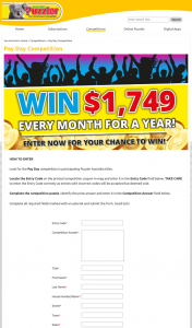 Australian Puzzler – Win Au$20988 Provided to The Winner In The Form of a Cheque (prize valued at $20,988)