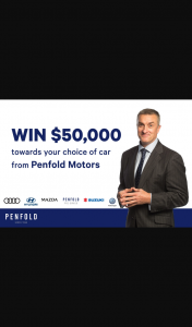 3AW – Win $50k Towards Car of Your Choice From Penfold Motors (prize valued at $50,000)