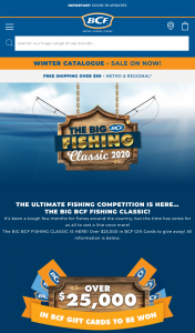 BCF FISHING CLASSIC – Win Over $25 (prize valued at $26,000)
