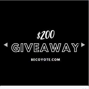 Be Coyote – Win 1/4 $50 Credit to Spend Online