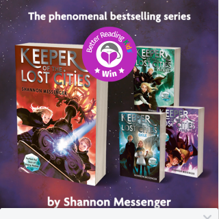Better Reading Kids – Win One of Two Sets of Keeper of The Lost Cities Books 1