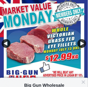 Big Gun Wholesale Meats Underwood – Win 1 of 2 $200 Vouchers (prize valued at $400)