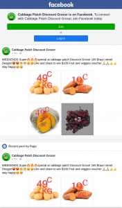 Cabbage Patch Discount Grocer – Win $100 Fruit and Veggies Voucher (prize valued at $100)