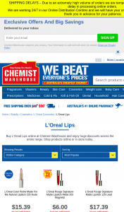 Chemist Warehouse – Win Lipstick Collection (prize valued at $400)