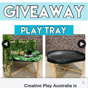 Creative Play Australia – Win Play Tray