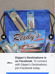 Dipper's Destinations – Win The Ultimate Reidy's Lure Pack