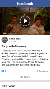 Film Focus – Win One of Five Double Passes to Baby Teeth at New Farm Cinemas Brisbane