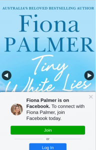 Fiona Palmer Author – Win a Proof Copy of Tiny White Lies