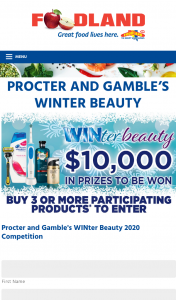 Foodland Procter & Gamble Winter Beauty Giveaway – Competition (prize valued at $10,000)