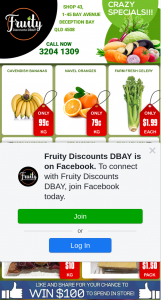 Fruity Discounts DBay – Win a $100 Store Voucher