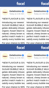 Gelatissimo – Win 1 of 10 X $20 Gift Cards to Try this Flavour