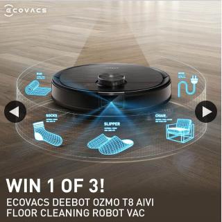 JB HiFi – Win a Ecovacs Deebot Ozmo T8 Aivi