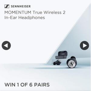 JB HiFi – Win One of Six Momentum True Wireless 2 In Ear HeaDouble Passhones