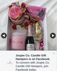 Joujee Co Candle Gift Hampers – Win this Gorgeous Happy Birthday Hamper With Your Choice OfundefinedConfectionaryundefined