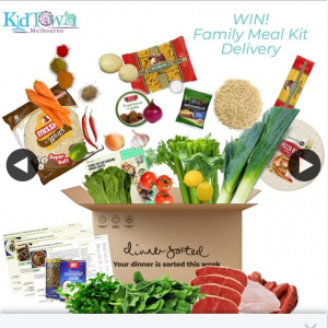 KidTown Melbourne – Win Dinner Sorted Family Meal Box (prize valued at $139)