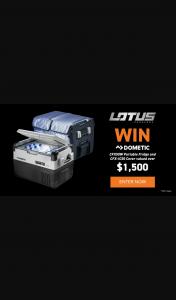 Lotus Caravans – Win a Dometic Fridge (prize valued at $1,558)