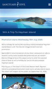 Marine Village Sanctuary Cove – Win a Trip to The Luxurious Intercontinental Hayman Island Resort