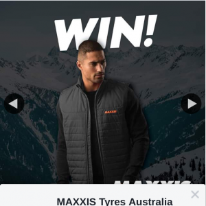 MAXXIS Tyres Australia – Win 1/10 Puffer Vest Jackets