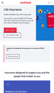 Medibank – Win 1 of 6 $2k Gift Card Competition (prize valued at $12,000)