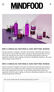 Mindfood – Win a Age Defying Range Valued at $254.91. (prize valued at $254.91)