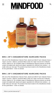 Mindfood – Win One of Five Sheamoisture Haircare Pack (prize valued at $64.97)