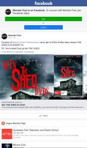Monster fest – Win One of Three Copies of The Shed DVDs