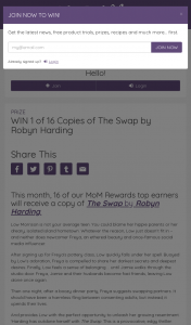 Mouths of Mums – Win 1 of 16 Copies of The Swap By Robyn Harding