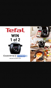 Mouths of Mums – Win 1 of 2 Tefal Cook4me Multi Cookers