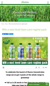 Munns – Win a Next Level Lawn Care Regime Pack