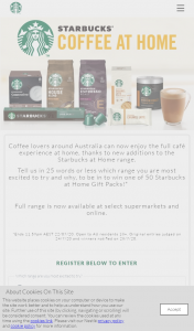 Nestle – Starbucks – Win One of 50 Starbucks at Home Gift Packs