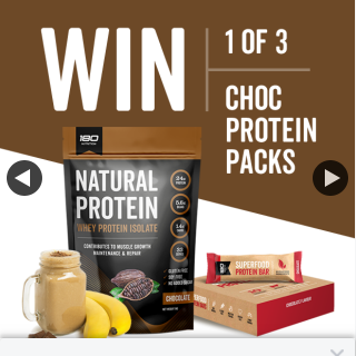180nutrition – Win 1/3 Chocolate Protein Packs