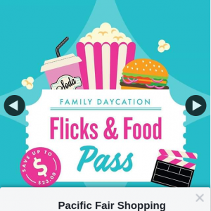 Pacific Fair Shopping Centre – Win a Family Flicks & Food Pass