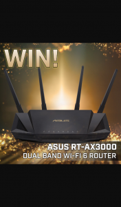 PC Case Gear – Win an Asus Rt-Ax3000 Wireless Router (prize valued at $399)