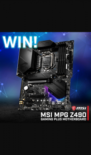 PC Case Gear – Win an Msi Mpg Z490 Gaming Plus Motherboard Worth $429. (prize valued at $429)