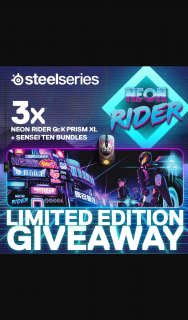 PC Case Gear – Win 1 of 3 Steelseries Neon Rider Mouse & Mousepad Prize Packs