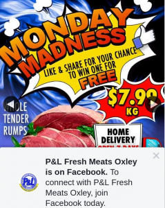 P&L Fresh Meats Oxley – Win a Whole Tender Rump