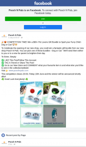 Pooch N Pals – Win a $80 Pet Lovers Gift Bundle to Spoil Your Furry Child (prize valued at $80)