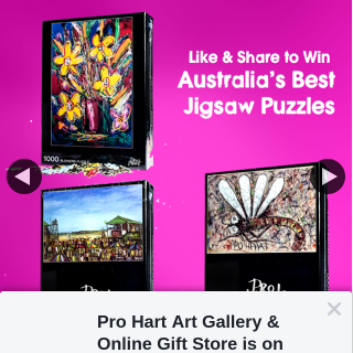 Pro Hart Art Gallery & online gift store – Win a Jigsaw Puzzle
