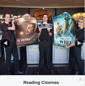 Reading Cinemas Belmont – Win a Double Pass