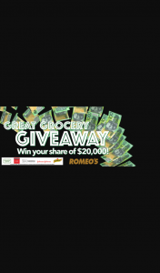 Romeo's Foodland Great Grocery Giveaway – Win Vouchers (prize valued at $1,000)