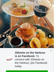 3Sheets on the harbour – Win Our New Sunday Dinner Roast for You and 3 Friends
