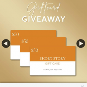 Short Story – Win 1/3 $50 Gift Cards