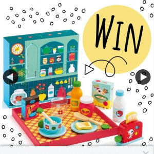 Silly Milly Moo – Win this Gorgeous Djeco Wooden Breakfast Time Toy Set Valued at $56.95 for Your Chance to Win (prize valued at $56.95)