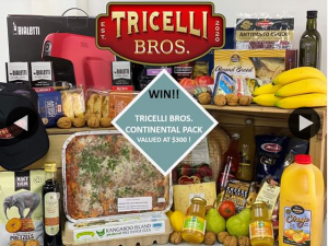South Aussie With Cosi – Win a Tricelli Bros Continental Box Including a Coffee Machine Valued at $300??