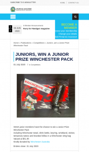 SSAA – Win a Junior Prize Winchester Pack (prize valued at $51.85)
