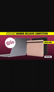 Stack Magazine – Win a Macbook Pro 16″ 1x Graphite and 1x Blush Pink Incase Carry Zip Sleeve Plus an Incase Hardshell Case
