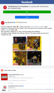 The Brickman – Win a Signed Custom Lego