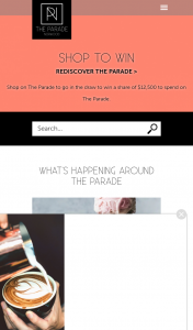 The Parade – Win Competition (prize valued at $12,500)